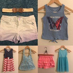 Girls Summer Bundle Lot 7 pieces